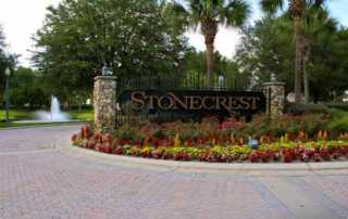 Stonecrest Entrance Sign, Florida 55+ Community