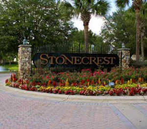 Stonecrest Entrance Sign, Florida 55+ Community