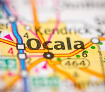 Map showing Ocala FL