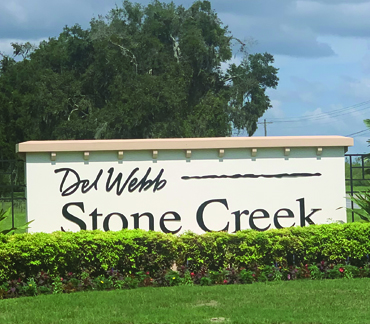 Del Webb Stone Creek 55+ communities in Florida homes for sale