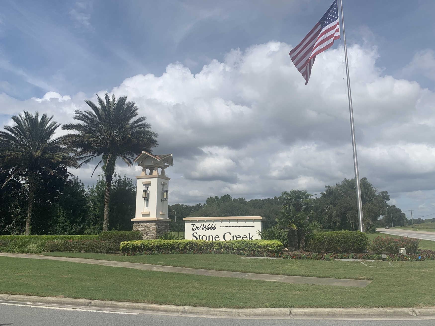 Stone Creek Ocala FL Entrance Sign