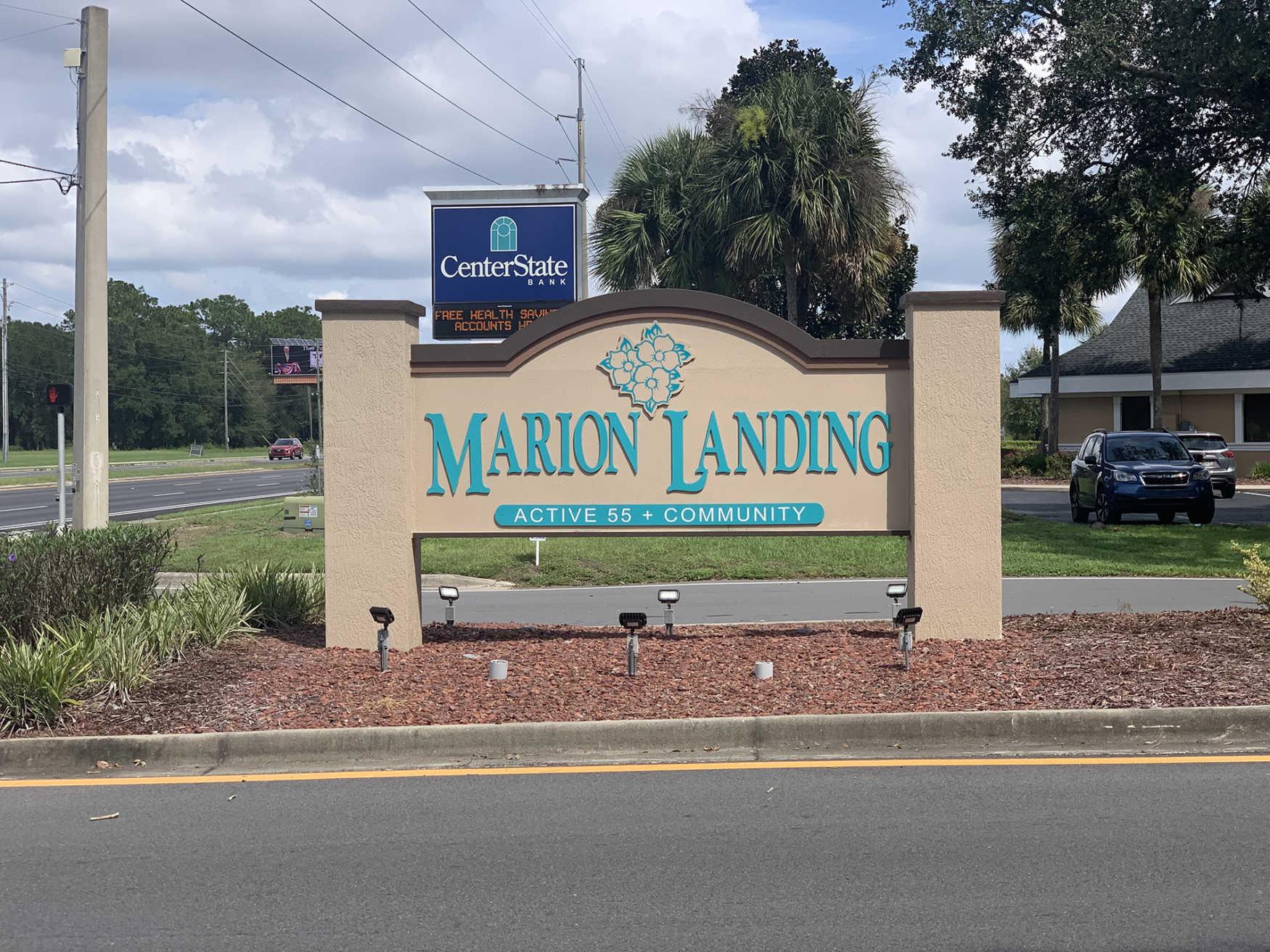 Marion Landing community sign