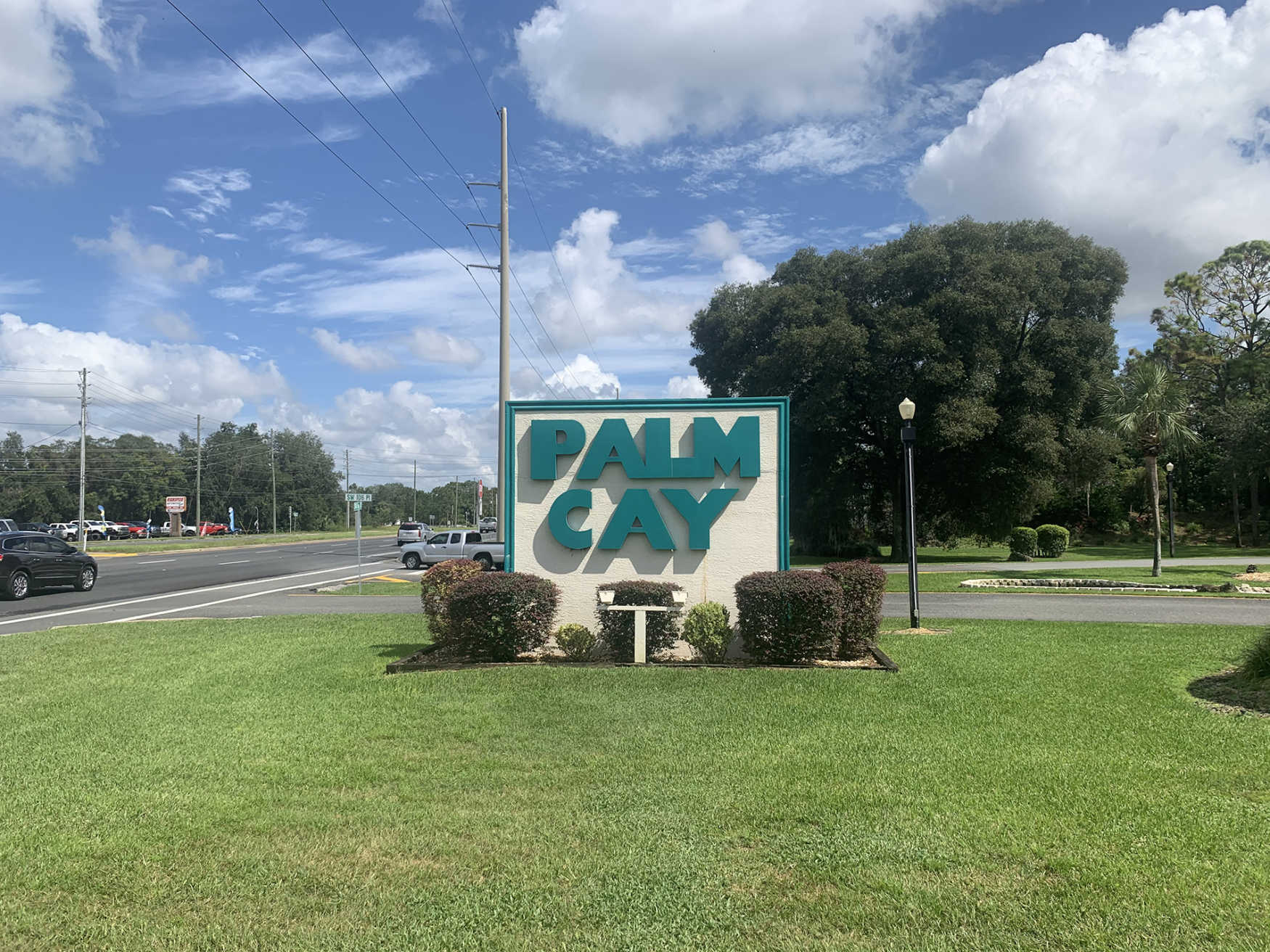 Palm Cay community sign