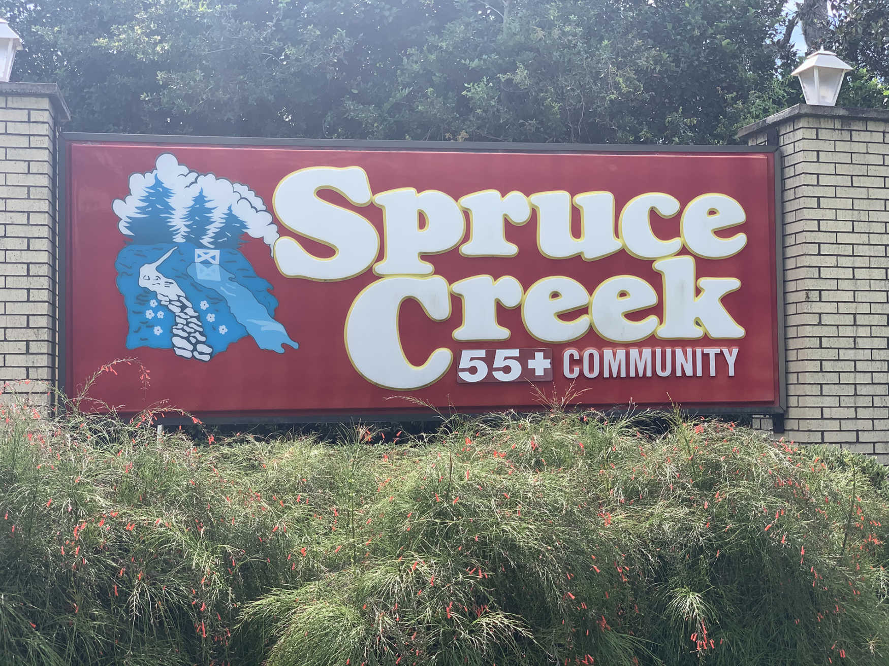 Spruce Creek North 55+ Community Entrance Sign