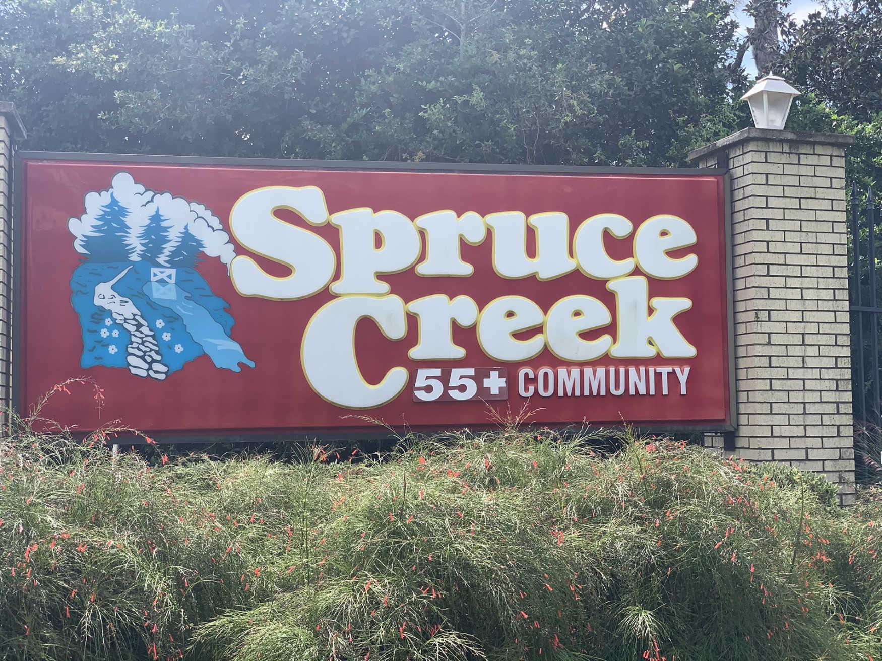 Spruce Creek North community sign